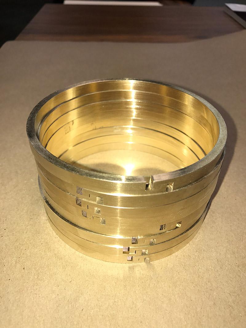 Bronze piston rings