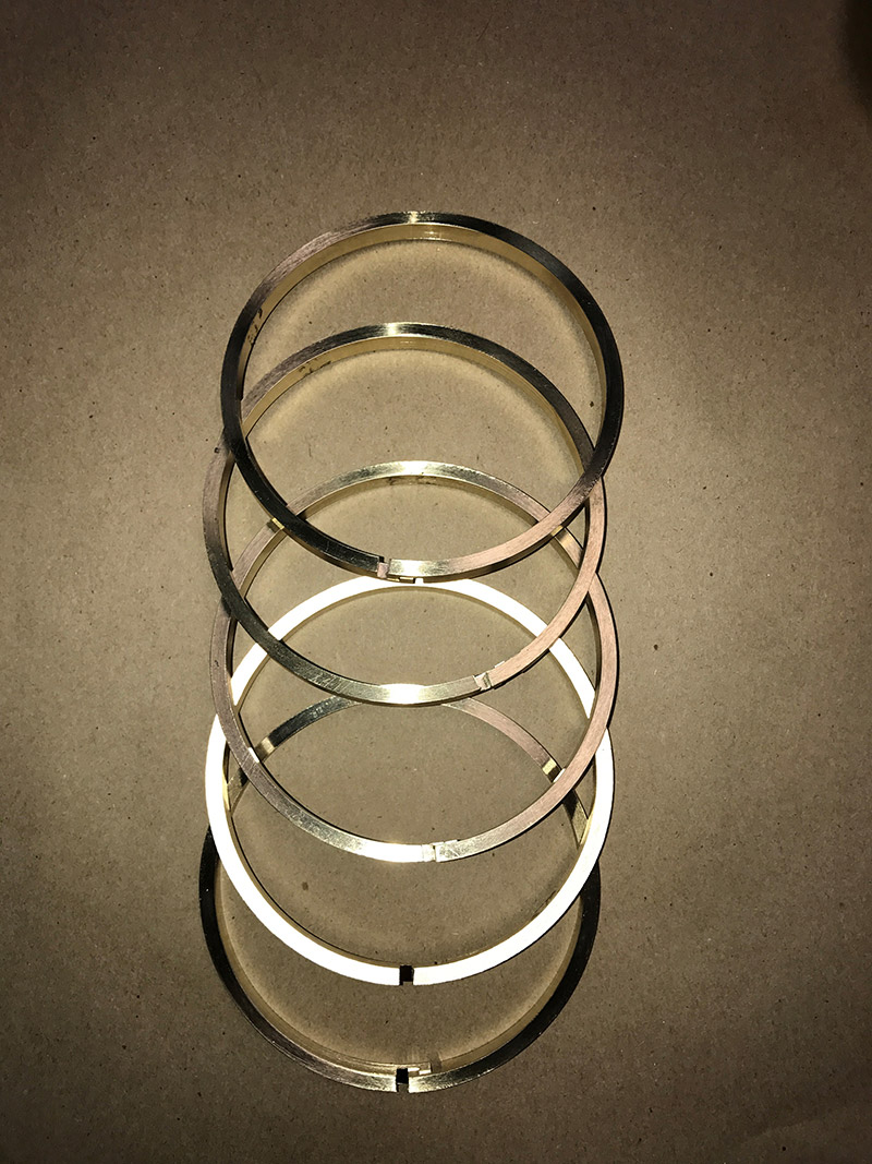 Bronze piston rings