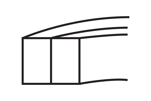 AD Piston Ring Two-Piece Compression